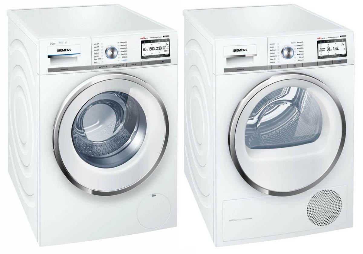 Colonne siemens wm6hy890ch machine laver et siemens wt7hy690ch garantie 5 - Lave linge intelligent ...