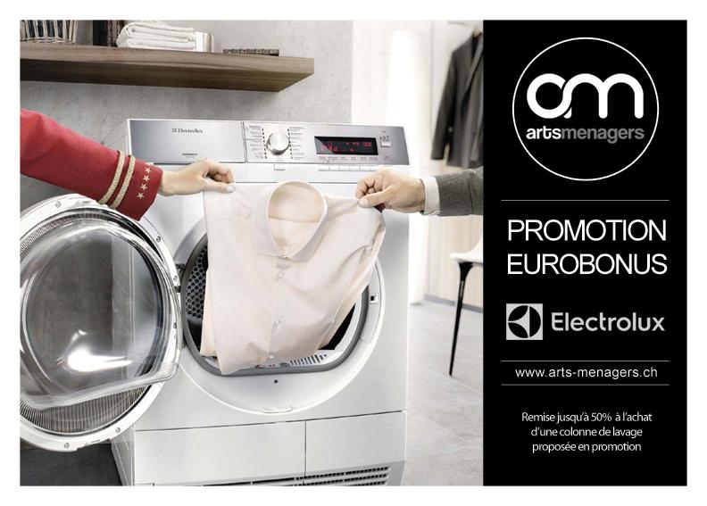 promotion eurobonus lave linge et s che linge electrolux. Black Bedroom Furniture Sets. Home Design Ideas