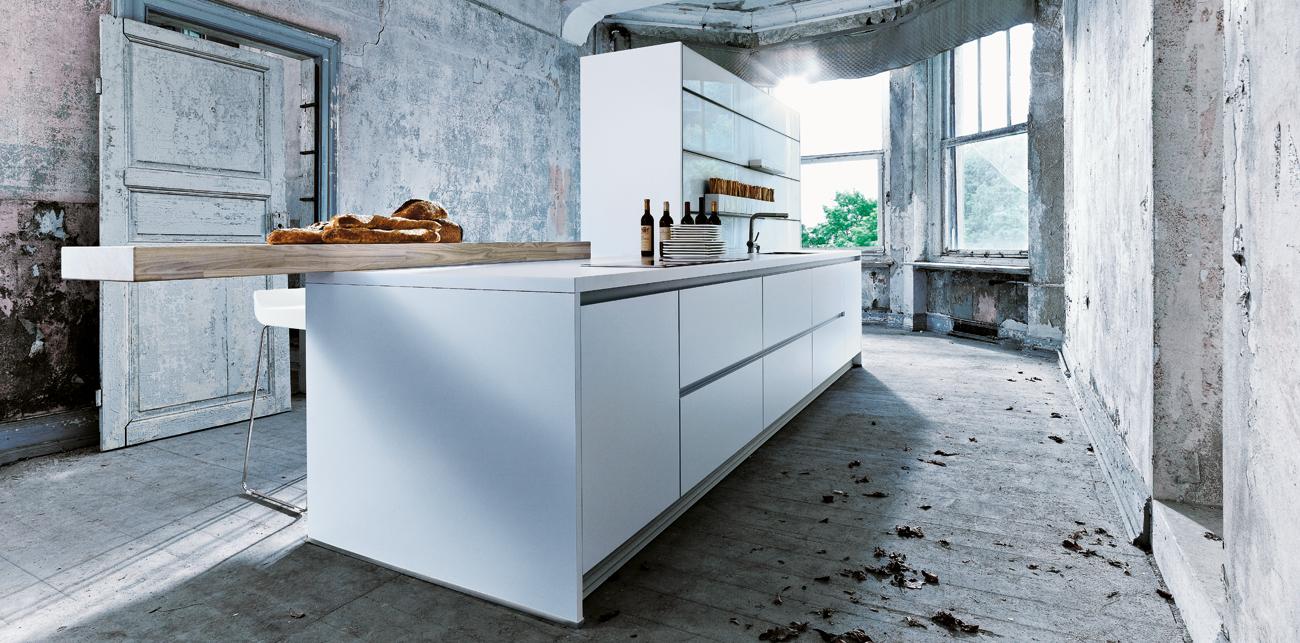 Cuisine next125 nx 800 solid blanc polaire for Cuisine ouverte declaration h1